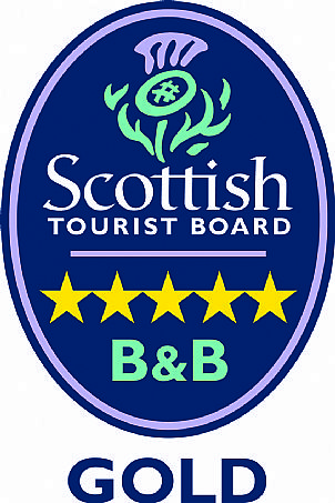 Scottish Tourist Board - 5 star bed and breakfast award